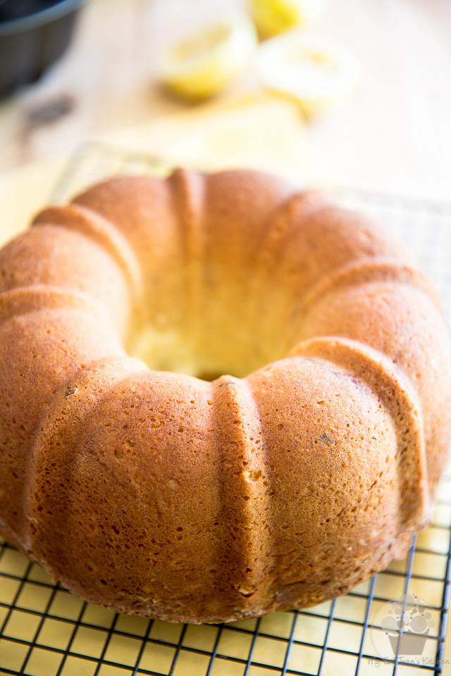 Making the cake - Lemon Cream Cheese Bundt Cake step-by-step instructions