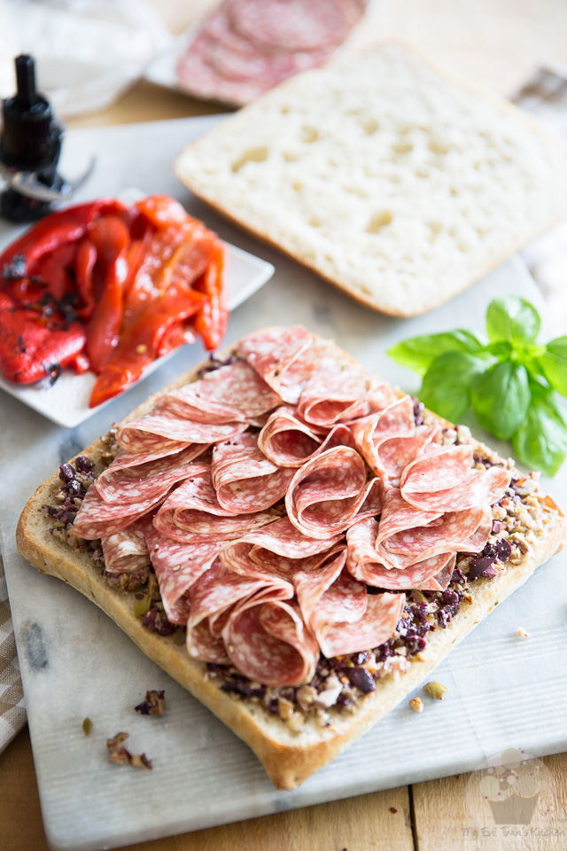 Learn how to make this delicious Tapenade Salami Sandwich, complete with step-by-step instructions and pictures on eviltwin.kitchen