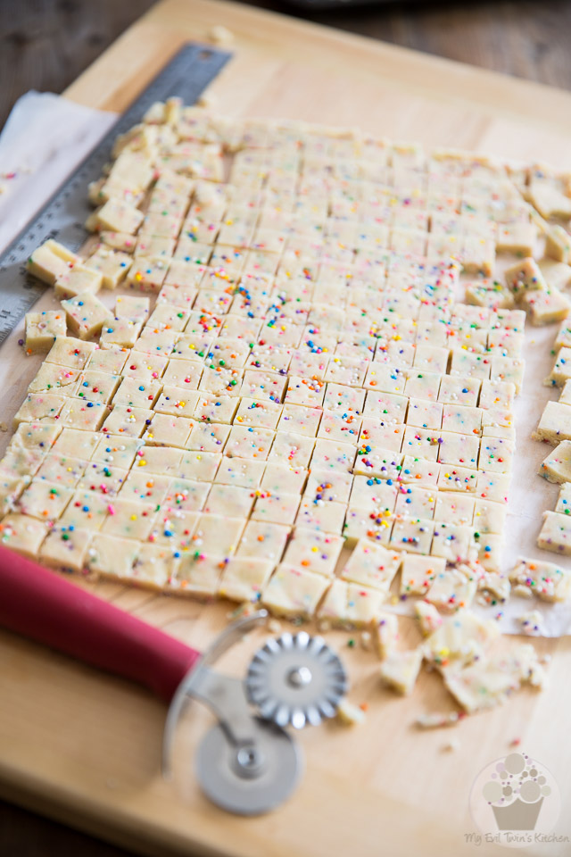 Funfetti Shortbread Tidbits by My Evil Twin's Kitchen | Step-by-step instructions on eviltwin.kitchen