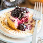Mini Blueberry Cheesecakes by My Evil Twin's Kitchen | Recipe and step-by-step instructions on eviltwin.kitchen