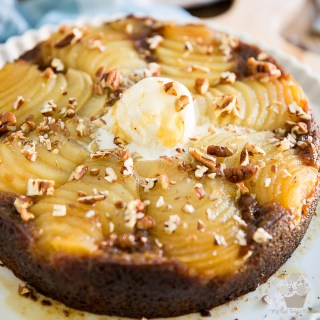 Upside Down Spiced Pear Cake