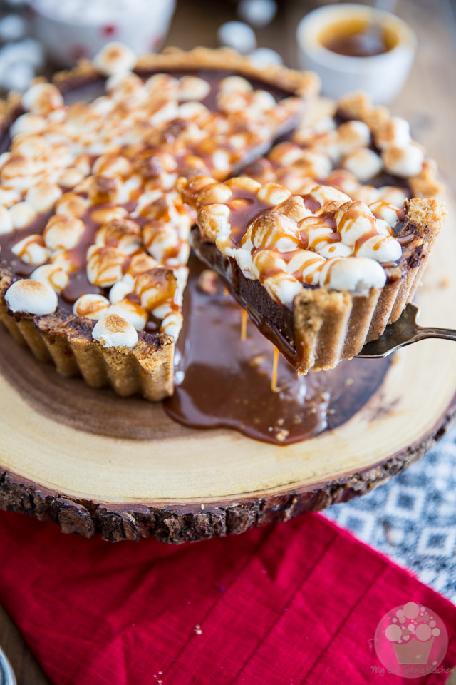 Outrageously decadent, this Salted Caramel S'mores Pie is more than just a pie, it's a sticky, messy, gooey but insanely sweet dessert that demands to be experienced.