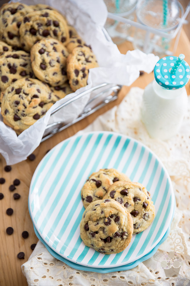 Deliciously soft and chewy Chocolate Chip Cookies - the last chocolate chip cookie recipe you'll ever need!