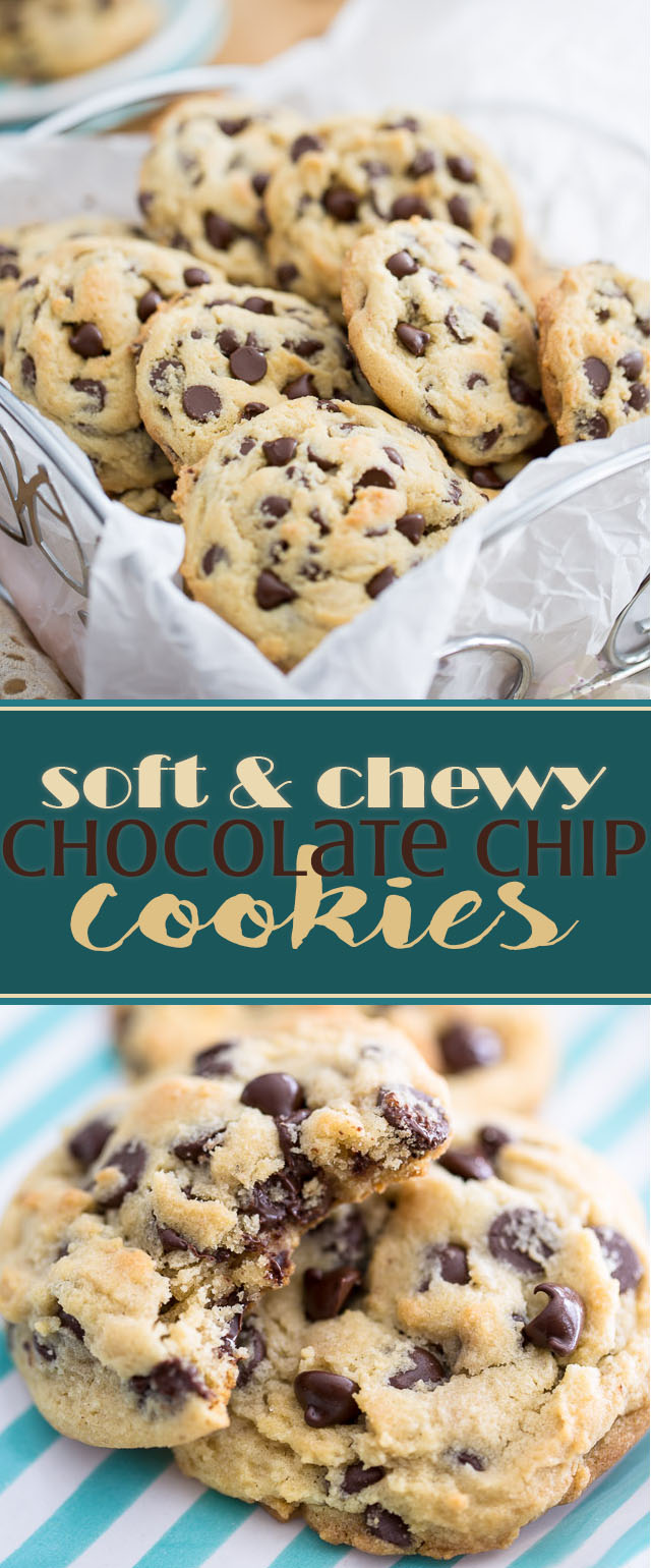 Soft and Chewy Chocolate Chip Cookies • My Evil Twin's Kitchen
