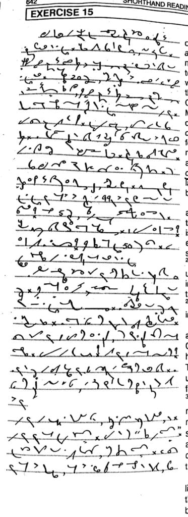Shorthand Dictation 80 Words per minute with outline, 10
