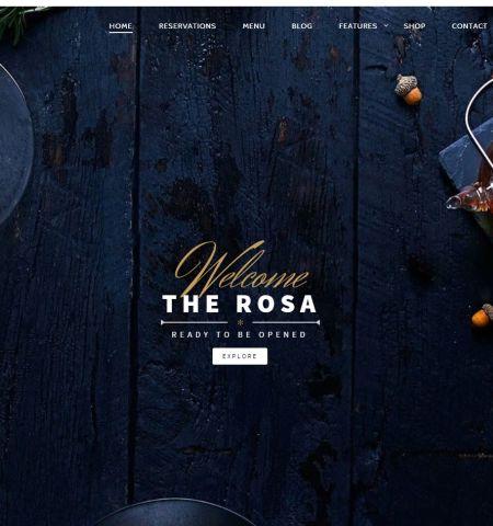 best premium wordpress restaurant themes: Rosa