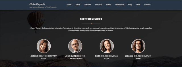 eVision Corporate: team