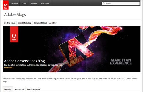 notable websites using wordpress: Adobe Blogs