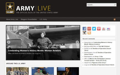 notable websites using wordpress: Army Live
