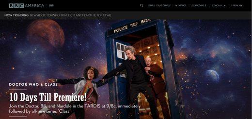notable websites using wordpress: BBC America