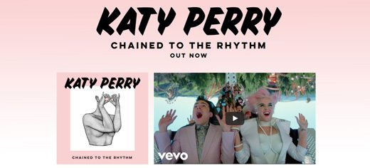 notable websites using wordpress: Katy Perry