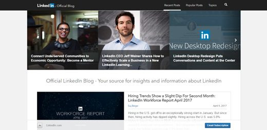 notable websites using wordpress: LinkedIn