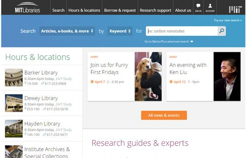 notable websites using wordpress: MIT Libraries News
