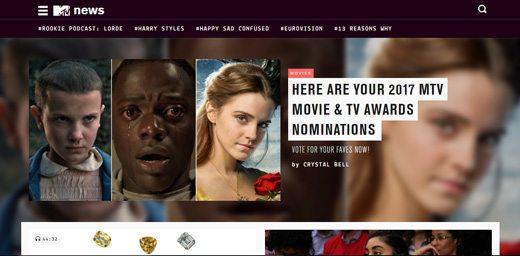 notable websites using wordpress: MTV Newsroom