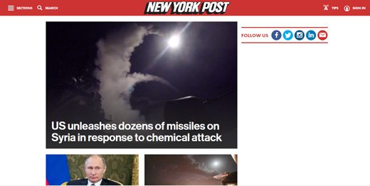 notable websites using wordpress: New York Post