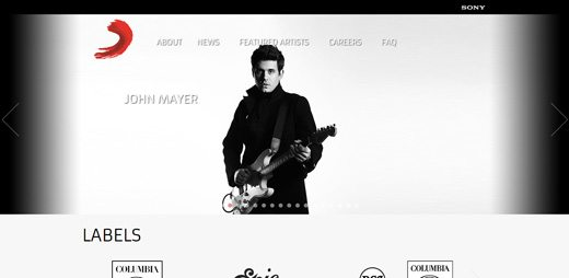 notable websites using wordpress: Sony Music