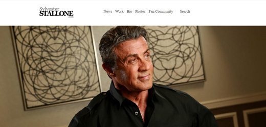 notable websites using wordpress: Sylvester Stallone