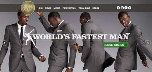 notable websites using wordpress: Usain Bolt
