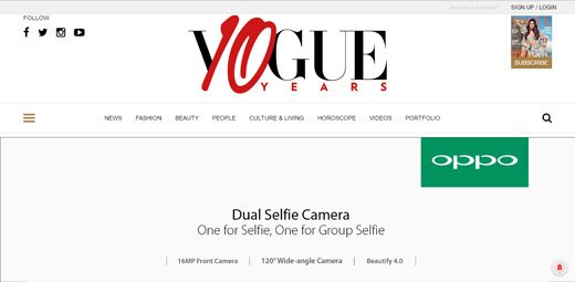 notable websites using wordpress: Vogue India