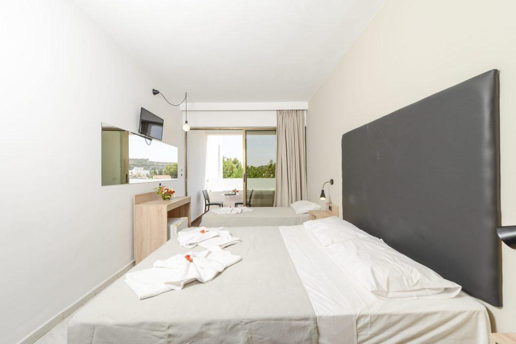 Evita Beach Hotel Double Triple Room View Faliraki Rhodes Greece