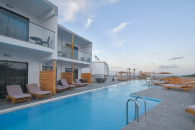 Evita Bay Hotel Sharing Pool Faliraki Rhodes Greece