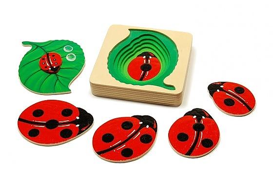 Attīstošā rotaļlieta bērniem Koka mārītes, kokaspeles.lv, 16.50 eur