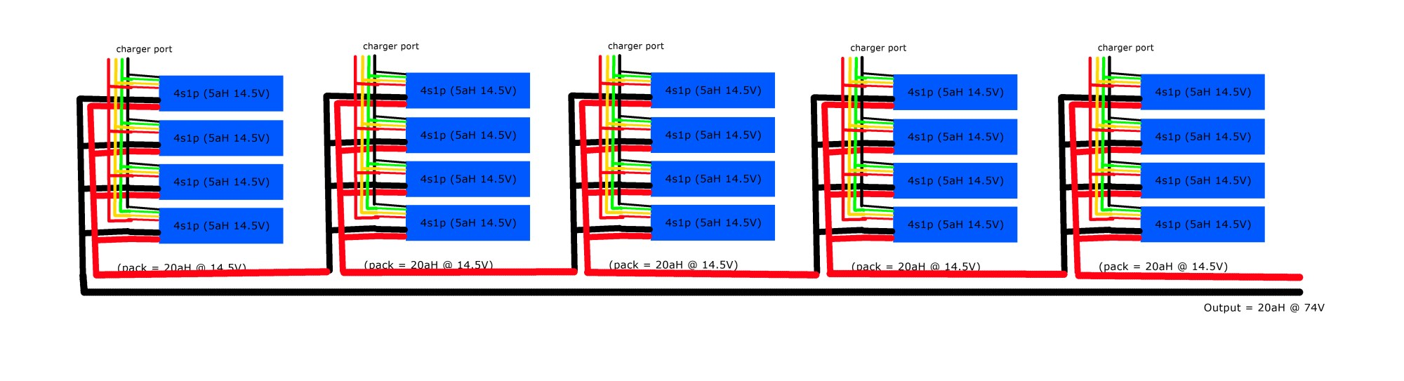 hight resolution of the lipo 4s1p pack wiring plan the electric chronicles power in flux li ion battery balance diagram lipo battery pack wiring diagram