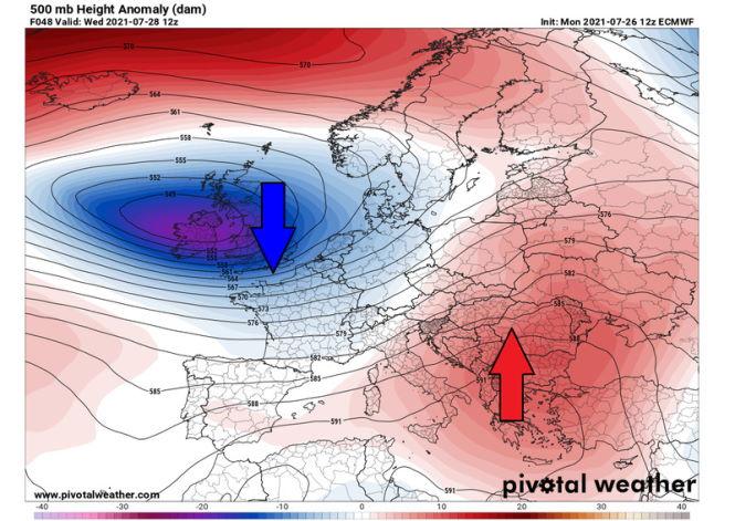 В Европе будет жарко до +45 °C, надвигается самая сильная тепловая волна лета 2021 года.