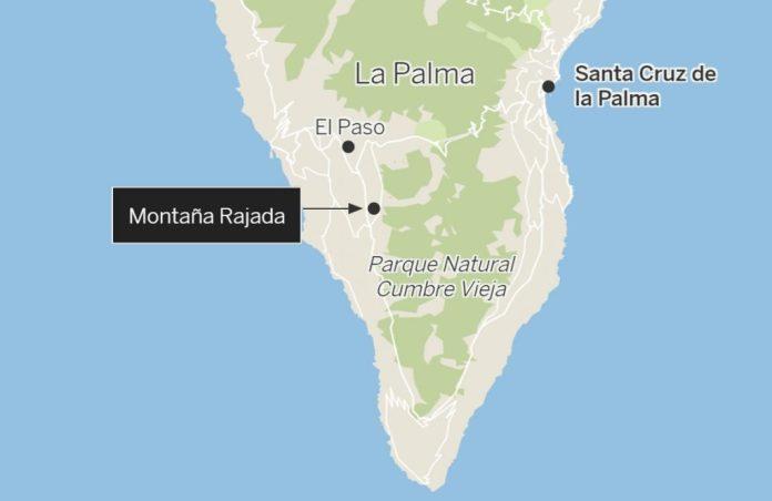 место извержения вулкана ла пальма
