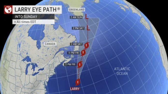 ураган Ларри, обновление урагана Ларри, ураган Ларри от урагана до метели