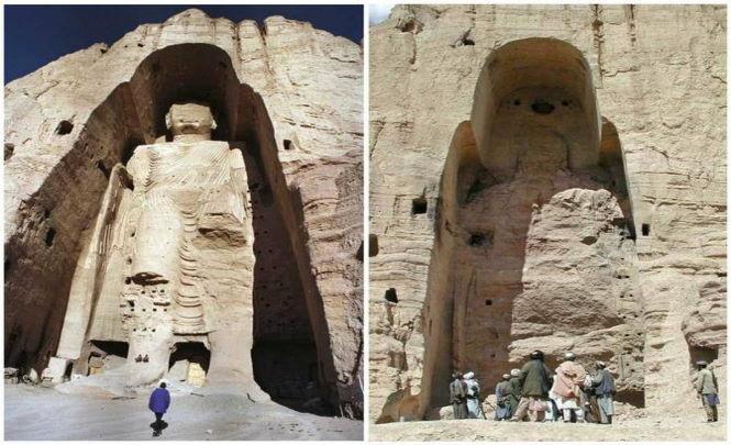Странные статуи, которые когда - то были в Афганистане