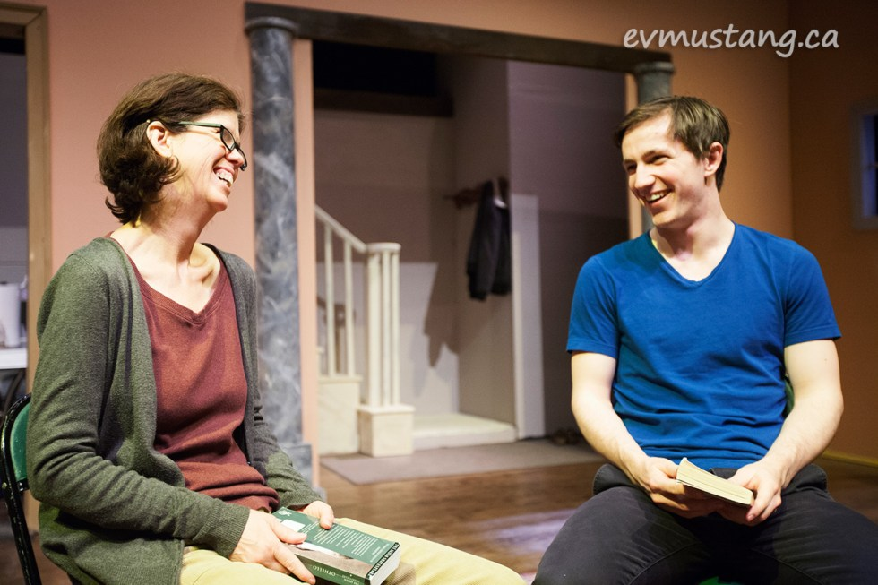 catherine fitch and andrew shown in taking shakespeare at market hall for new stages
