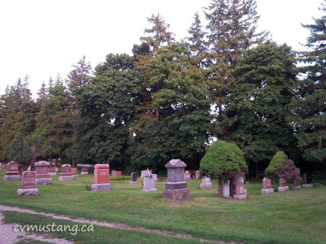 image of a cemetery in milton ontario
