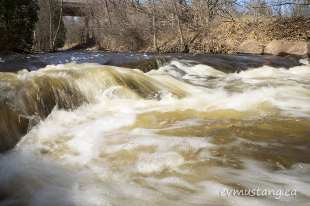image of fast moving water in jackson's creek