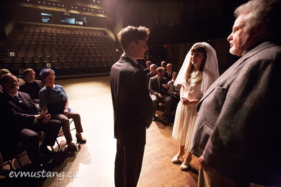image of the wedding scene in new stages production of our town