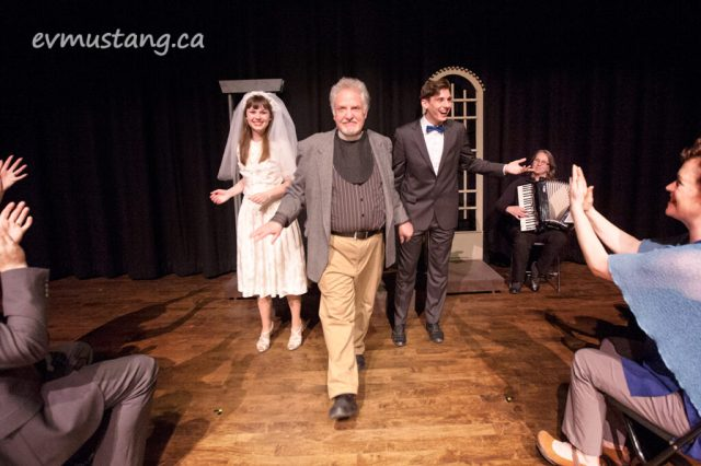image of randy read as the stagem manager in nwe stages production of our town