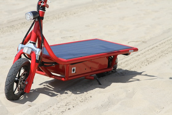 The World S First Solar Powered Electric Scooter