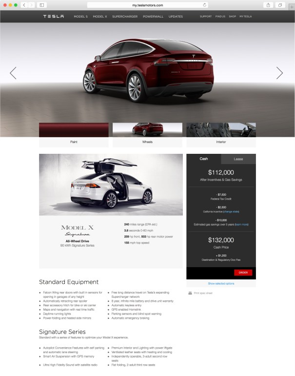 Tesla Model X design studio 1