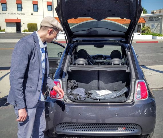 Fiat 500e trunk 2 enhanced