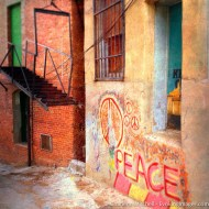 Peace Graffiti in Bisbee