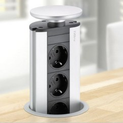 Pop Up Electrical Outlet For Kitchen Kohler Faucet Evoline Power Port Silver 2x, When Only Sockets Are ...