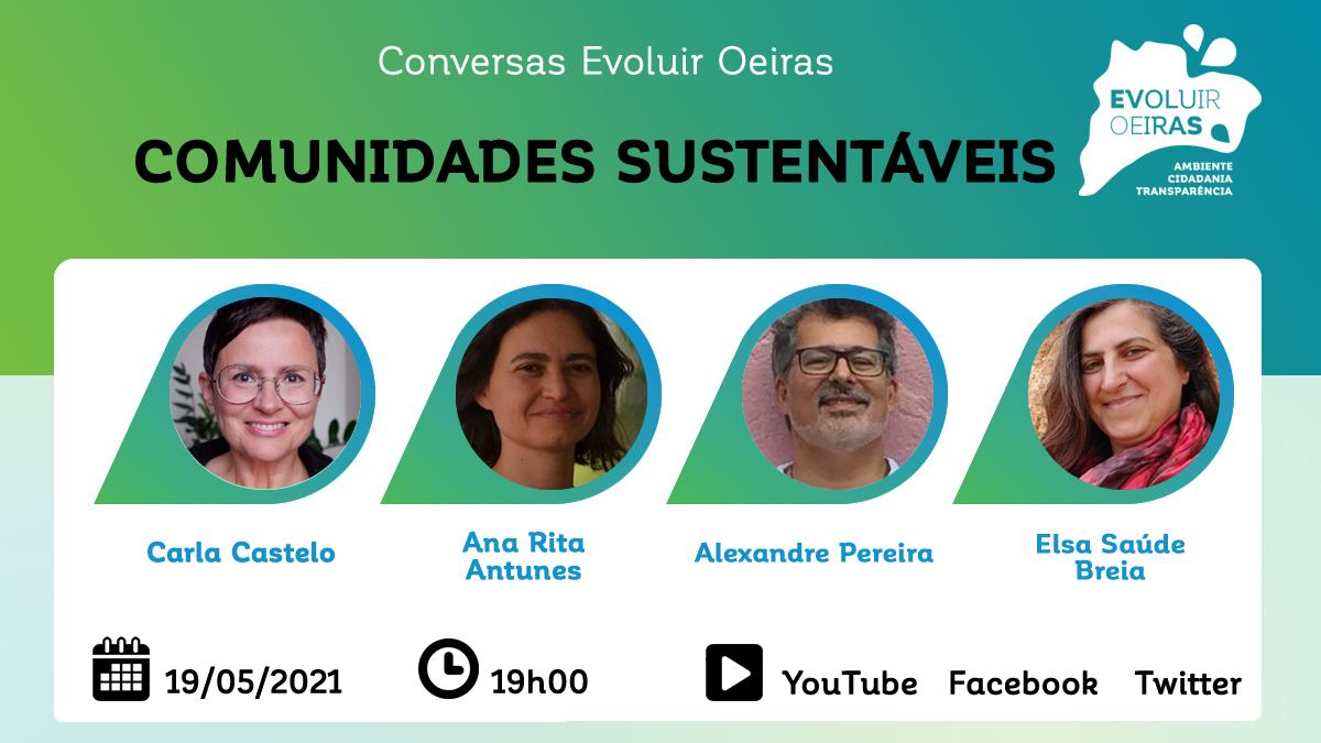 cartaz promocional conversas comunidades sustentáveis