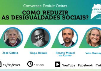 cartaz promocional da conversa Evoluir Oeiras sobre desigualdades sociais