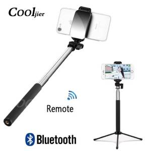 Wireless Remote Bluetooth Selfie Stick with Mini Tripod For iPhone Samsung & Huawei Mobile Phone Accessories Selfie Sticks & Tripods cb5feb1b7314637725a2e7: Black black with tripod Pink pink with tripod