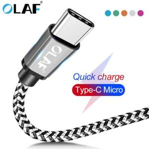 Micro USB Data Cord Type-C For Android Smartphones – Universal Cable USB Phone Cables cb5feb1b7314637725a2e7: Blue|Green|Orange|Rose|Silver