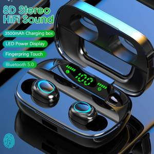 Touch Wireless Earphone Bluetooth HiFi Stereo – Noise Canceling & Waterproof Earbuds LED Power Earphones & Headphones cb5feb1b7314637725a2e7: Dual Ear NO LED B|Dual Ear NO LED W|Dual ear with LED B|Dual ear with LED W|Single Ear NO LED B|Single Ear NO LED W