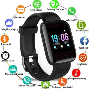 Blood Pressure Waterproof -Heart Rate Monitor Fitness Tracker For Android & IOS Wrist Watches cb5feb1b7314637725a2e7: Add 4 straps|Add a blue strap|Add a green strap|Add a pink strap|Add a red strap|Black|Blue|Green|Pink|Red