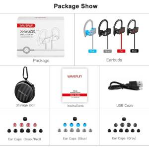 Bluetooth headphones waterproof wireless Earphones & Headphones cb5feb1b7314637725a2e7: Black|Blue|gray|Red