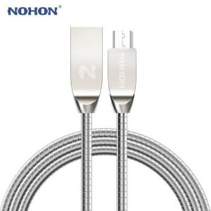 Micro USB Fast Charging Data Sync Cables, Zinc Metal Charger For Android Phone USB Phone Cables cb5feb1b7314637725a2e7: Black|Gold|Pink|Silver