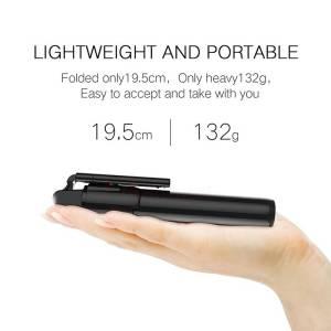 Foldable Tripod Bluetooth Selfie stick with Wireless Shutter – Universal For Mobile Phones Selfie Sticks & Tripods cb5feb1b7314637725a2e7: Black|WHITE